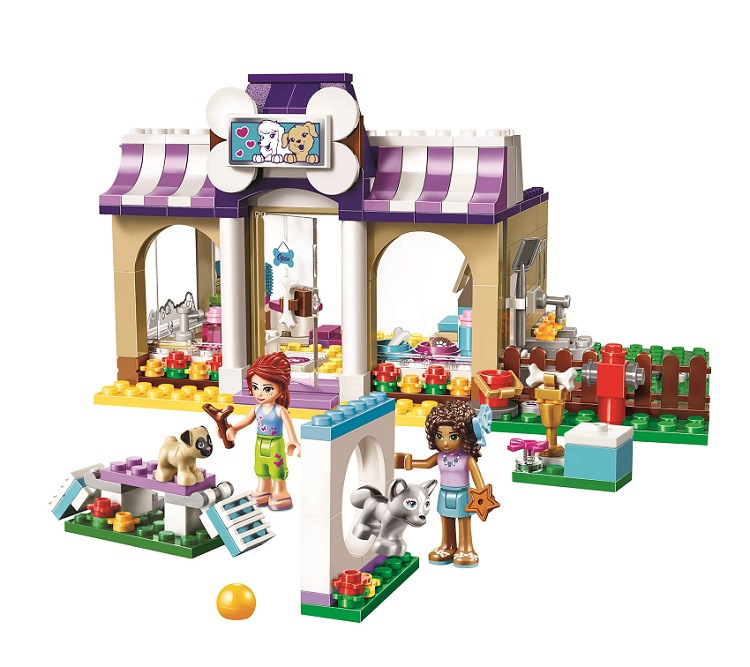 BELA Friends Series Heartlake Puppy Daycare Building Blocks Classic For Girl Kids Model Toys Marvel Compatible Legoe bela friends series heartlake grand hotel building blocks classic for girl kids model toys marvel compatible legoe