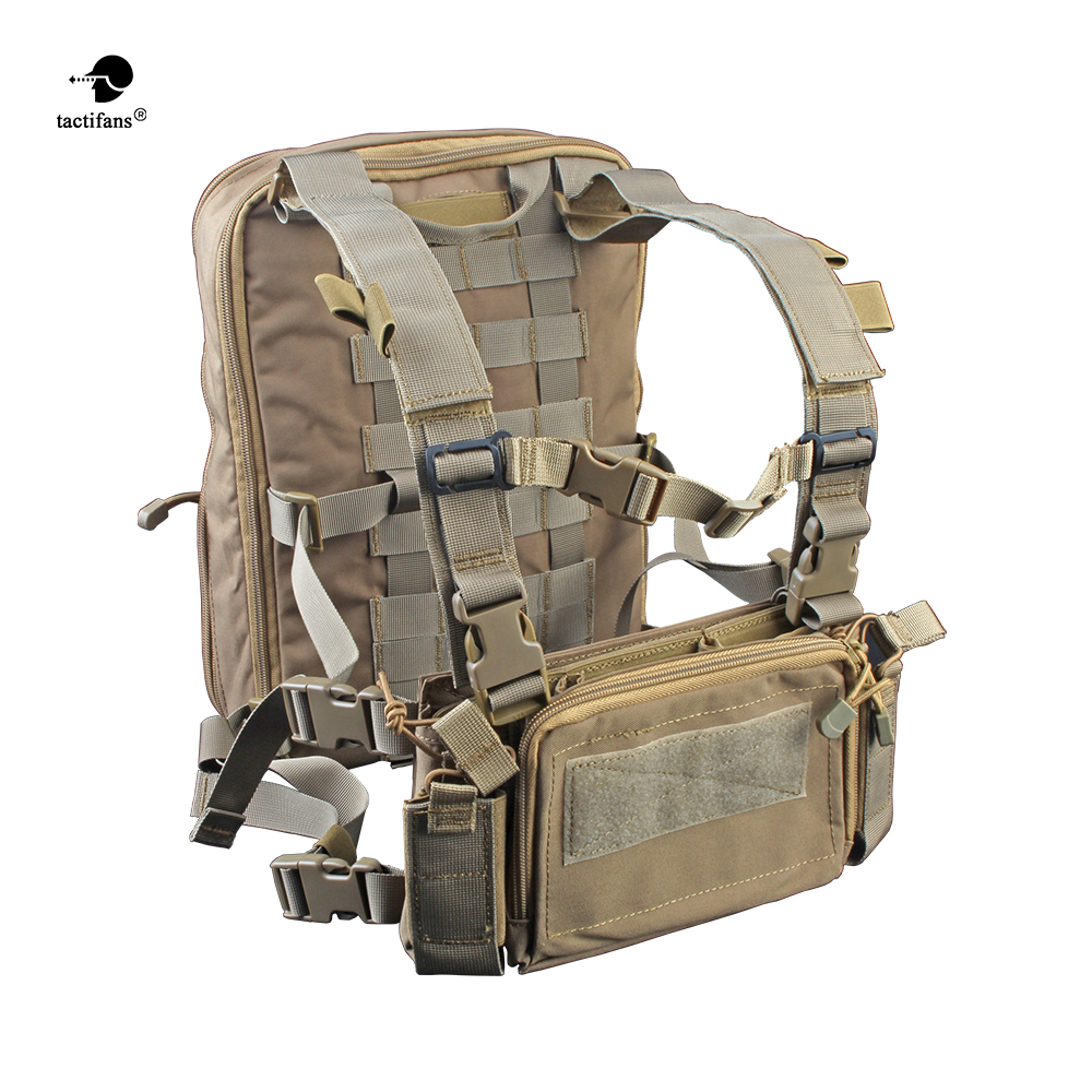 Flatpack D3 Plus Backpack Hydration CB Chest Rig Vest Armor Rifle AK M4 Pistol Magazine Pouch
