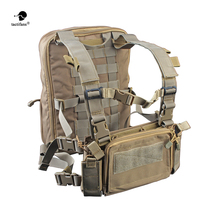 Flatpack D3 Plus Backpack Hydration CB Chest Rig Vest Armor Rifle AK M4 Pistol Magazine Pouch Outdoor Hiking Hunting Army Bag outdoor hunting tactical chest rig adjustable padded modular military vest mag pouch magazine holder bag platform