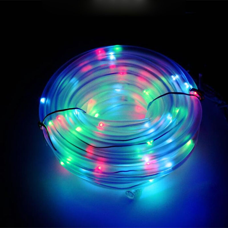 Led Solar Fairy String Lights 12m 100leds Guirlande Led Solaire Rope Light Outdoor Garden Luces Solares