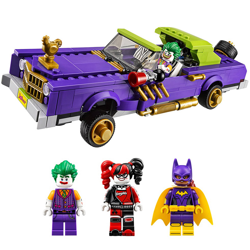 450PCS Batman Super Hero The Joker Notorious Lowrider Harley Quinn Building Block Kids Toys Compatible Legoingly Christmas Gift 1pc super heroes catwoman robin joker batman movie figures poison harley quinn building blocks compatible with legoingly batman