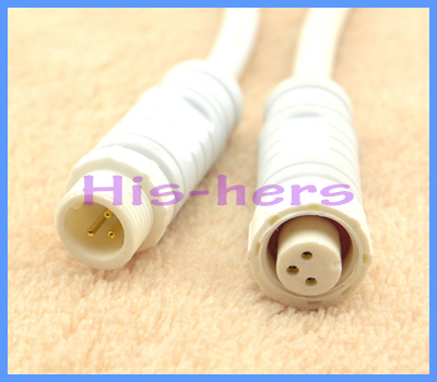2 sets/lotLED strip M12 3Pin Plug Jack CableLED Light Waterproof Cable Connector Male Female Adapter - Collect Energy store