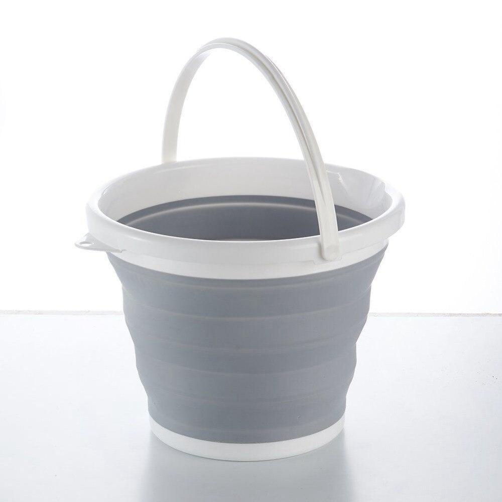 Seau pliant portable rétractable en plastique ménage portable épaississement voyage en plein air lavage de voiture seau baril de pêche 006