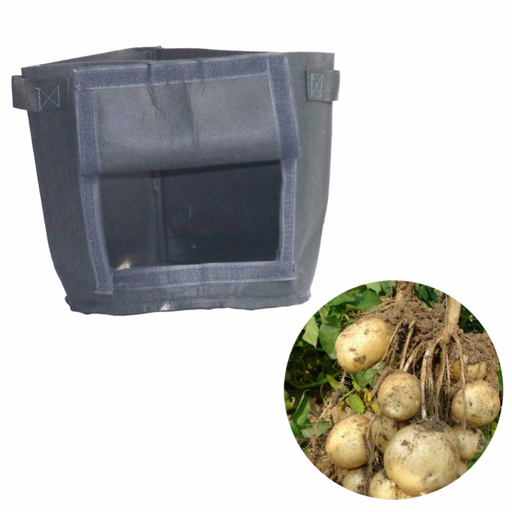 2 pcs cropping fabric plant bag cultivated pots Potato Vegetables Flowers Cultivation Planting bags Home Garden Farm fitting