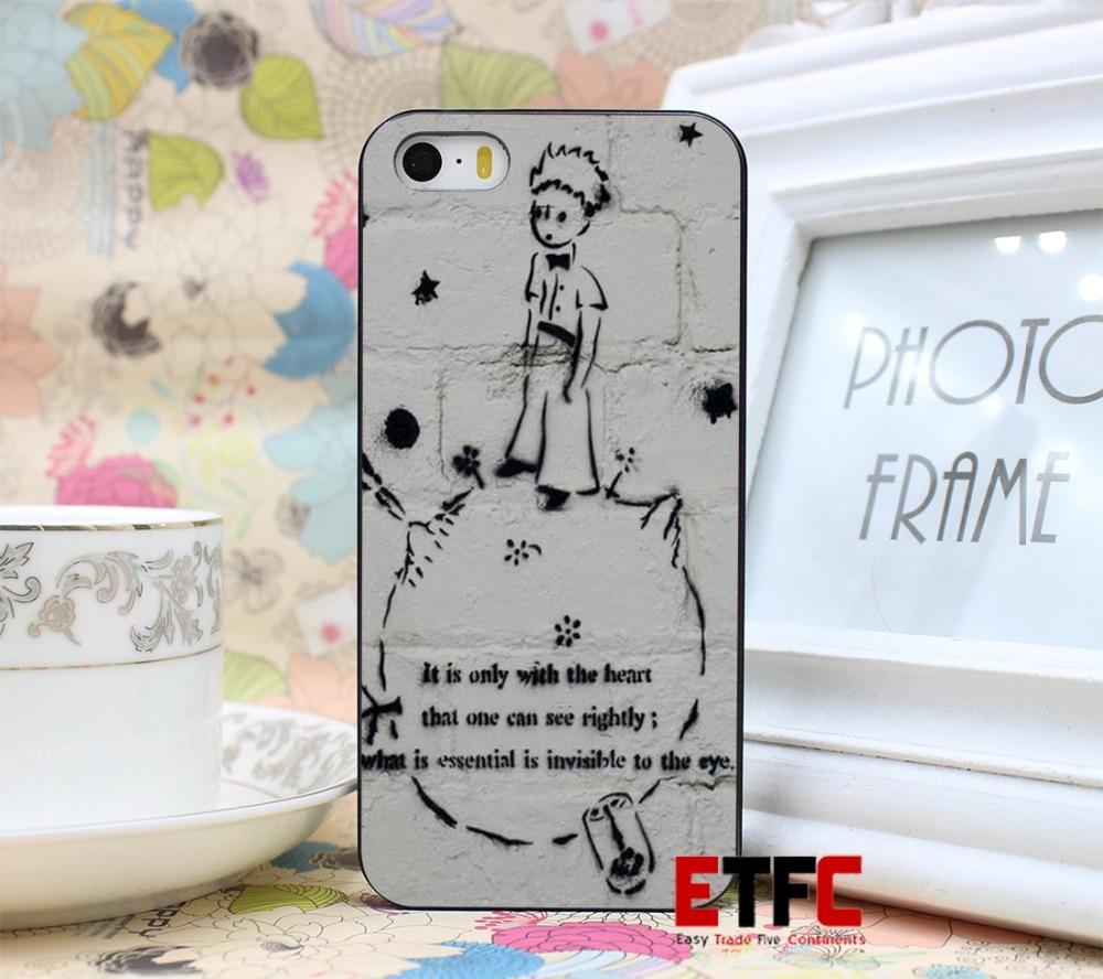 ETFC-191 Whatland The Little Prince Graffiti HARD New Fashion Design Hard Black Skin for iPhone 5 5s 5g Case Cover
