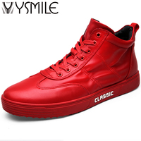 Superstar Brand Footwear 2017 Fashion Men Casual Shoes High Top Platform Shoes Red Male Walking Shoes