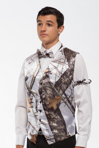 free shipping camouflage mens wedding groom wear white camo man formal tuxedo vests custom make