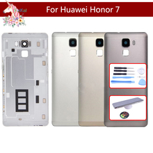 Original For Huawei Honor 7 PLK-AL10 PLK-L01 PLK-TL01H Battery Cover Back Housing Rear Door Case Full Battery Cover Panel black 100% new full lcd display touch screen digitizer assembly for huawei ascend honor 7 plk tl01h plk ul00 free shipping