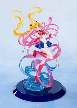 цена на 23cm Anime  Sailor Moon Pretty Guardian Ver.  Crystal Tsukino Usagi Action Figure Xmas gift Model T30