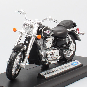 Image 4 - 1:18 scale small welly 2002 Kawasaki VN Vulcan 1500 MEAN STREAK classic motorcycle cruiser Motorbike model Diecast toy for Kids