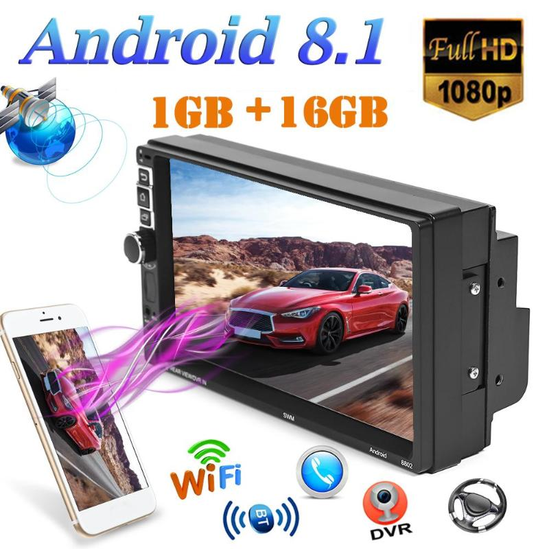 8802 Android 8.1 Car Stereo GPS Navigation BT WiFi USB FM Radio Head Unit Reversing Image Bidirectional Heat Dissipation(China)