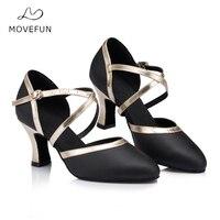 33 Movefun High Quality Latin Dance Shoes Woman Heels 8cm Tango Salsa Girls Ballroom Dancing Shoes