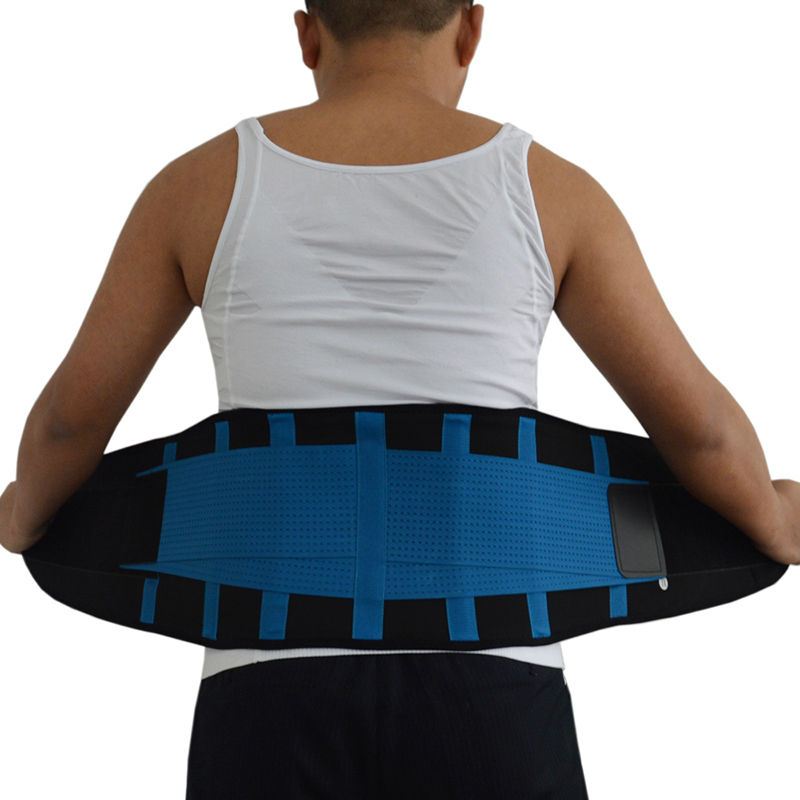 Orthopedic Lumbar Medical Belt Waist Trimmer PP Straps Suporte Lumbar Support Belt for Men Blue Black Direct Factory Y123
