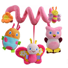 Three Beetle Stroller Rattle Baby Toys Brinquedos Plush Toys Learning & Education Rattle Crib Activity Toys WJ128