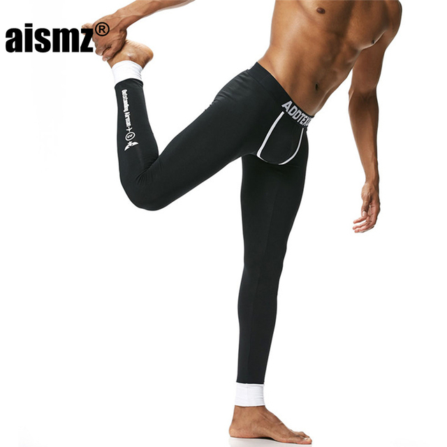 06ca7a677027 Aismz Men's Fashion Cotton Long Johns Pants Warm Trousers Render Underpants  Man Tight Trousers Of Winter Legging