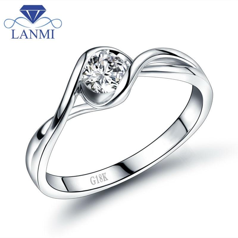 Bague de luxe en or blanc 18 K VS diamant pour femmes bijoux de mariage de bonne qualité Dia WU140