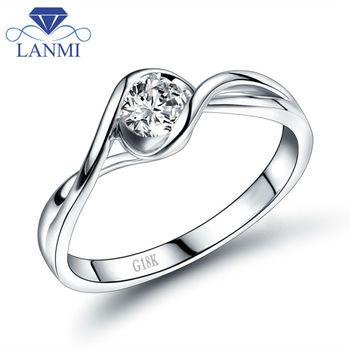 Luxury 18K White Gold VS Diamond Ring for Women Wedding Jewelry Good Quality Dia WU140 фото