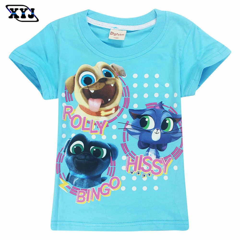 c08e2d86f 2018 verano cachorro Pals camiseta para niñas Animal impreso algodón Tops  juego niños camisetas para niñas