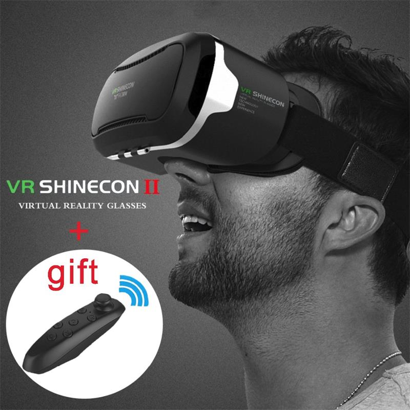 <font><b>VR</b></font> Shinecon 2.0 <font><b>VR</b></font> BOX II 2.0 <font><b>vr</b></font> <font><b>glasses</b></font> Virtual Reality 3D <font><b>Video</b></font> Cardboard For 4.7 - 6.0 inch Smartphone + Bluetooth Controller