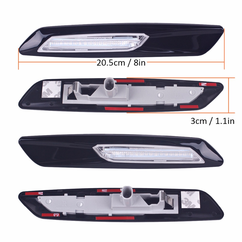 91befebef117 2Pcs Car styling LED Smoker Side Marker Light Fender Turn Signal Lamp for  BMW E81 E82 E87 E88 E90 E91 E92 E60 E61 Accessories-in Signal Lamp from ...