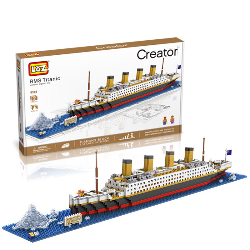LOZ blocs de diamant briques techniques blocs de construction jouet RMS Titanic bateau à vapeur modèle de bateau jouets pour enfants Micro créateur 9389