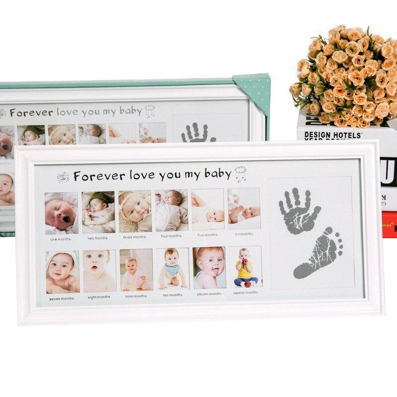 Фоторамка для детей в европейском стиле, сделай сам, отпечаток отпечатка пальца, фоторамка для детей, подарок для новорожденных, фоторамка