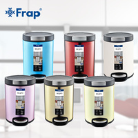 Frap SPressing Type Foot Pedal Pressing Dustbin Environmentally Plastic Home Office Waste Bin 6 Colors