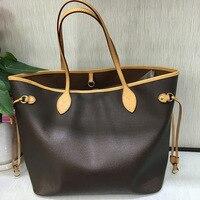 Top Quality Never Monogram Bag Women Brand Shoulder Bag Classic Canvas Women Shopping Bags Real Leather Women Full Handbag MM/GM