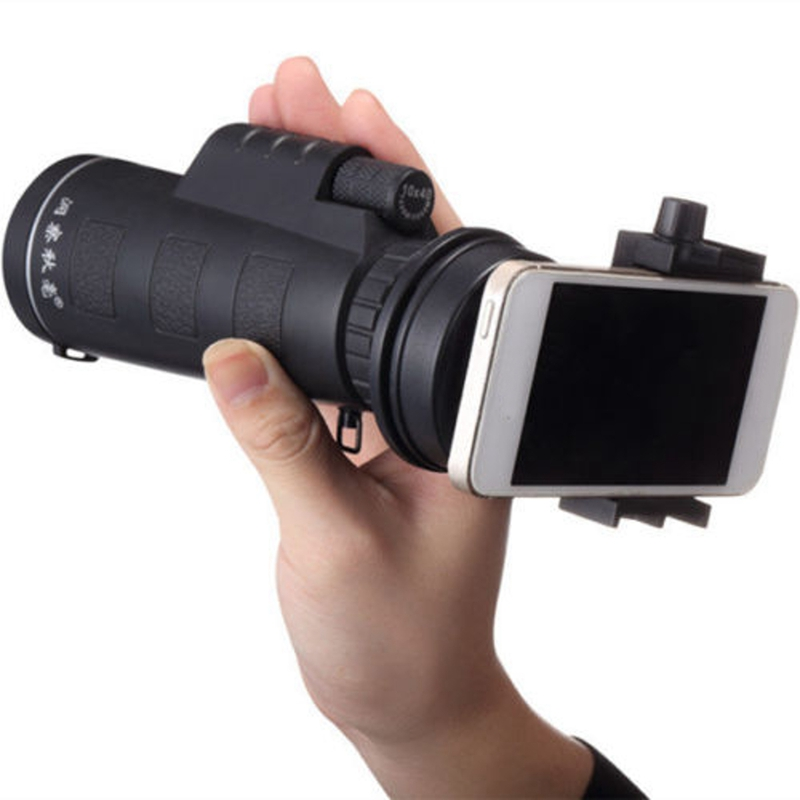 10X40 Zoom Hiking Concert Phone Camera Lens Telescope Monocular with Phone Holder Universal for iPhone or Android Smart Phones