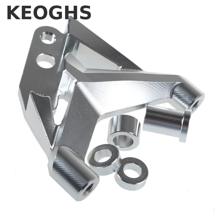 Keoghs Motorcycle 100mm Brake Caliper Bracket/adapter Cnc Aluminum For Fastace Front Absorber For 220 260mm Brake Disc keoghs motorcycle hydraulic brake system 4 piston 100mm hf2 brake caliper 260mm brake disc for yamaha scooter cygnus x modify