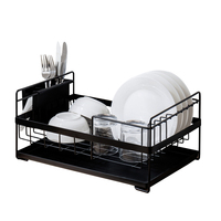 Metal Plastic Dishes Plates Storage Shelves Drainer Bowl Spoons Chopsticks Racks Holders Kitchen Organizer Shelf Accessories