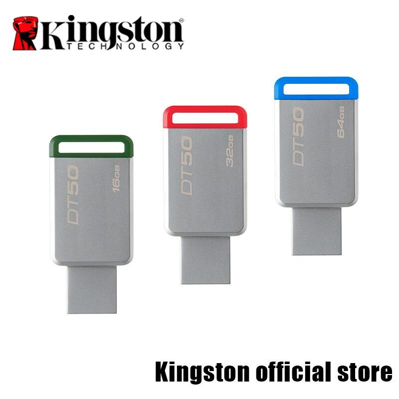 Kingston Numérique DT50 USB 3.0 USB Flash Drive 16 GB Pendrive 128 GB 32 GB Pendrive 64 16GBGB Métal Pen Drives 8 GB Mémoire U bâton
