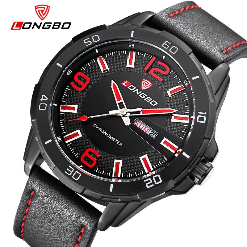 Hot LONGBO Brand Watches Relogio Masculino High Quality Casual Clock Fashion Wristwatches Sport Quartz Watch font