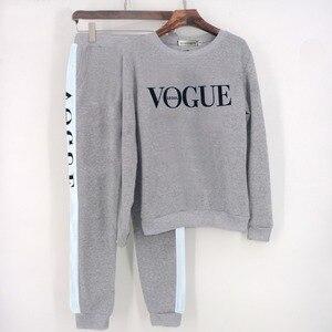 Image 4 - Xuancool Nieuwe 2020 Vrouwen 2 Stuk Kleding Set Casual Mode Vogue Sweater + Lange Broek Trainingspak Voor Vrouwen Hoodie Pak