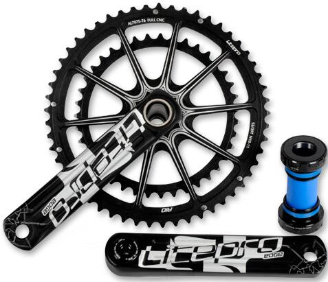Lightweight Litepro Road Bike Crank 39-53T 130BCD Road Bicycle Crankset Bicycle Crankset 170mm