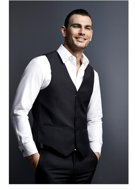 Classic Groom Vests Black Groomsmens/Best Man Vest Custom Made Size and Color Five Buttons Wedding/Prom/Dinner Waistcoat
