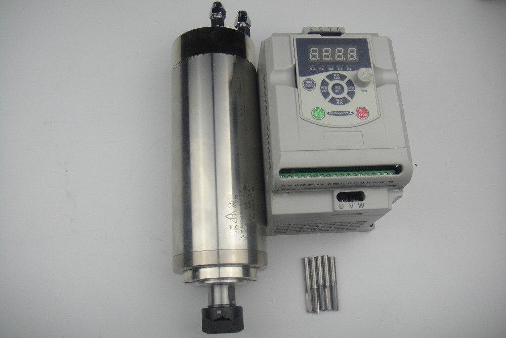 Kit de broche de CNC ER20 2.2KW broche de refroidissement par eau + 1 pièce inverseur 2.2KW + CNC bits de gravure