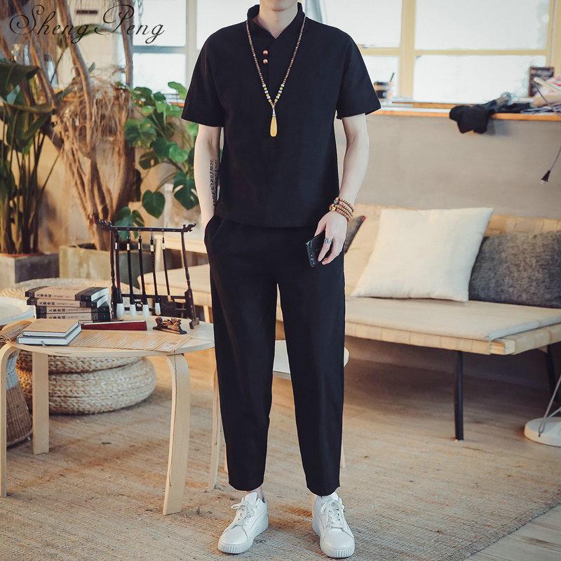 Chinese Traditional Elegant Linen Men Suit 5