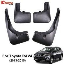 Für Toyota RAV4 2013 2014 2015 Set Vorn Hinten Schlamm Klappe Schmutzfänger Splash Kotflügel Flaps Kotflügel Form Auto zubehör