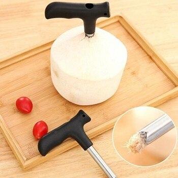 Práctico abridor de coco de acero inoxidable, cuchillo de corte, utensilios de...