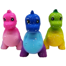 Jumbo Colorful Galaxy Dinosaur Squishy Kawaii Animal Doll Soft Squeeze Toy Slow Rising Party Game Stress Relief Fun for Kid Gift