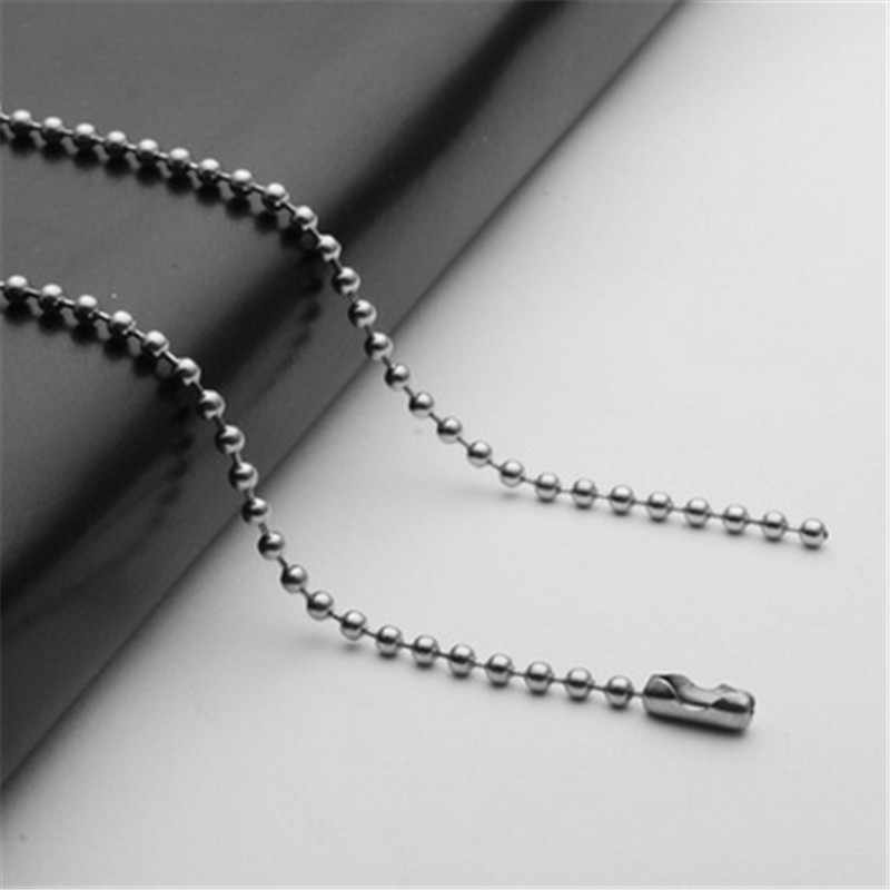 20/24 inch 316L silver stainless steel chain necklace for pendants women & men round bead chain diy jewelry making accessories