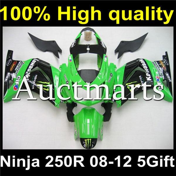 Plastic Body Fairing Kit Set For KAWASAKI Ninja 250 250R EX250 EX250R 2008 2009 2010 2011 2012 08 09 10 11 12 K8-55