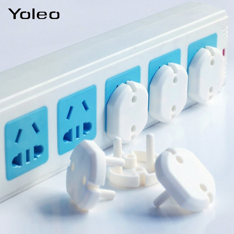 10pcs EU Power Socket Outlet Plug Protective Cover Baby Kids Children Safety Protector Anti Electric Shock Plugs Protector Cover