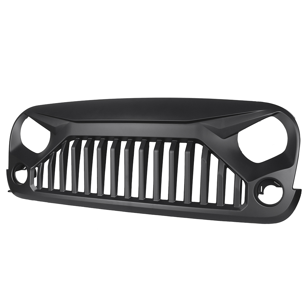 For Jeep Wrangler JK Unlimited 2007-2017 Front Grille Grid Grill Matte Black Car Auto Parts front grill mesh grill insert set cover front grille sticker racing grills trim for jeep wrangler jk 2007 2015