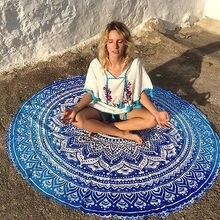 Indischen mandala tapisserie wandbehang werfen towel strand yo-ga mat decor boho kreis strand towel serviette de plage