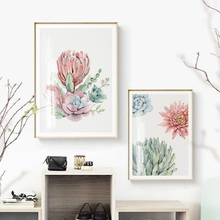 Succulent Plants Wall Art Canvas Painting Green Leaves Plants Nordic Poster Pictures For Living Room Posters And Prints Unframed nordic poster succulent plants posters and prints cactus cuadros wall art canvas painting wall pictures for living room unframed