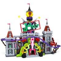 Лепин 07090 Горячая продажа 3857 шт. супер герой серии Джокер усадьба набор строительных блоков Кирпичи Рождественский legoINGlys 70922 подарки
