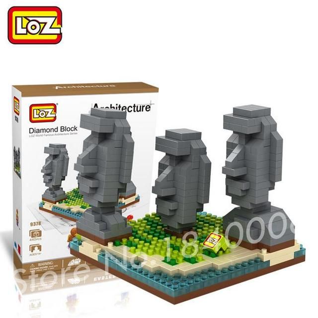 Online shop 440pcs loz easter island building blocks world famous 440pcs loz easter island building blocks world famous architecture mini bricks diy toys present gift usa empire state model negle Gallery