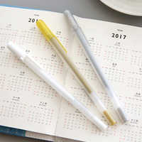1pc japan sakura High light marke pen Black cardboard Metal pen The white line pens